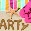 Beach party travel fun concept — Stok fotoğraf