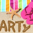 Beach party travel fun concept — Stockfoto