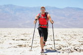 Ultra running man - trail runner in extreme race — Stock Photo