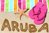 Aruba beach travel — Stock Photo