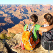 Hiking hikers in Grand Canyon enjoying view — Stock Photo #41034113