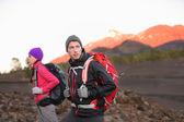 Hiking people on mountain — Stock Photo
