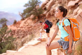Hiker in Grand Canyon — Stock Photo