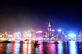 Hong Kong skyline and Victoria harbor from Kowloon — Stock Photo
