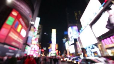 Times Square  New York City  Manhattan background — Stock Video