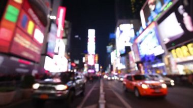 New York City  Times Square  Manhattan background — Stock Video