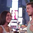 Dating couple in love Times Square, New York City — Stock Video