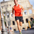 Runner - man running by Colosseum, Rome, Italy — Stock Photo