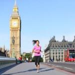 London lifestyle woman running near Big Ben — Stock Photo #44255845
