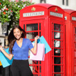 England London shopping woman shopper with bags — Stock Photo #44255899