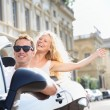 Cars - people driving car with male driver — Stock Photo #44255965
