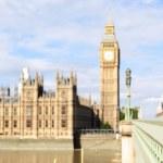 London England travel banner - woman and Big Ben — Stock Photo