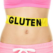 Gluten allergy, health and Celiac disease concept — Stock Photo