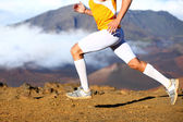 Trail running - male runner in cross country run — Stock Photo
