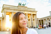 Berlin people - woman at Brandenburg Gate — Stock Photo