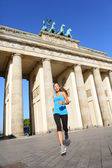 Berlin lifestyle - running woman in Germany — Stock Photo