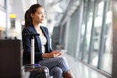 Passenger traveler woman in airport — Stock Photo