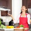 Funny cooking image - Stock Photo