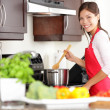 Cooking woman in kitchen — Stock fotografie