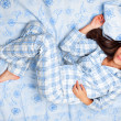 Woman sleeping in bed — Stock Photo #21562543