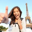 Paris turist happy — Stock Photo