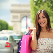 Paris Shopping Woman — Stock Photo #21562633