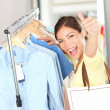 Shopping . Happy shopper woman — Stock Photo #21562775