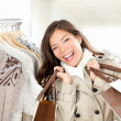 Shopper woman happy — Stock Photo