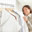 Clothing. Woman shopping clothes — Stock Photo #21563081