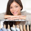 Small clothing shop owner — Stock Photo