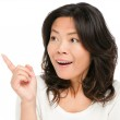 Asian woman showing surprised — Stock Photo #21563445