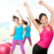 Fitness dance zumba class — Stock Photo #21564003