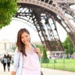 Paris woman by Eiffel Tower — Stock Photo #21564223