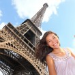 Eiffel Tower tourist — Stock Photo