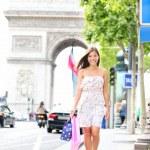 Paris woman shopping — Stock Photo #21564347