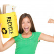 Recycling woman concept — Stock Photo