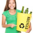 Stock Photo: Recycle girl