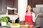 Funny cooking image — Stockfoto