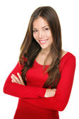 Beautiful woman smiling portrait — Stock Photo