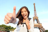 Paris turist happy — Stock Photo
