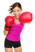 Boxer. fitness woman boxing — Stock Photo