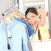 Shopping . Happy shopper woman — Stock Photo