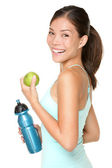 Fitness woman happy smiling — Stock Photo