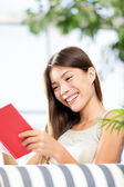 Reading book woman — Stock Photo