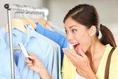 Shopper surprised over sale price — Stock Photo