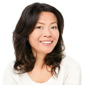 Asian woman smiling happy — Stock Photo