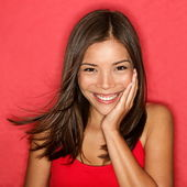 Smiling young woman cute — Stock Photo