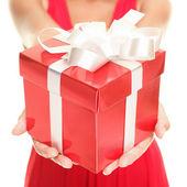 Geschenk vrouw — Stockfoto