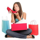 Shoes shopping woman — Stock Photo