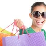 Asya alışveriş kadın — Stok fotoğraf